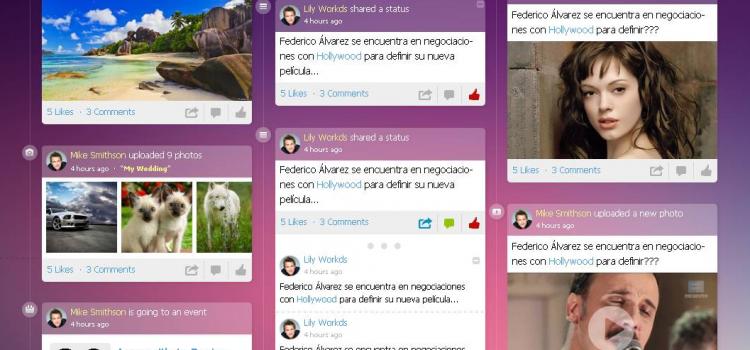 Chameleon.Circles: a fun social network template